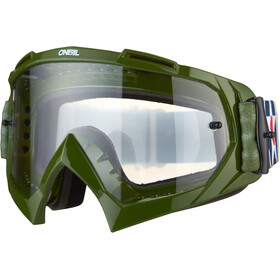 O'Neal B-10 Lunettes de protection, warhawk green/sand-clear